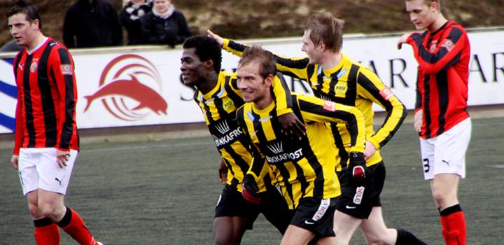 Sigur við Løkin: NSÍ-HB 2-1
