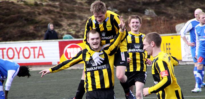 NSÍ vann 2-0 á B71 í dysti um Løgmanssteypið