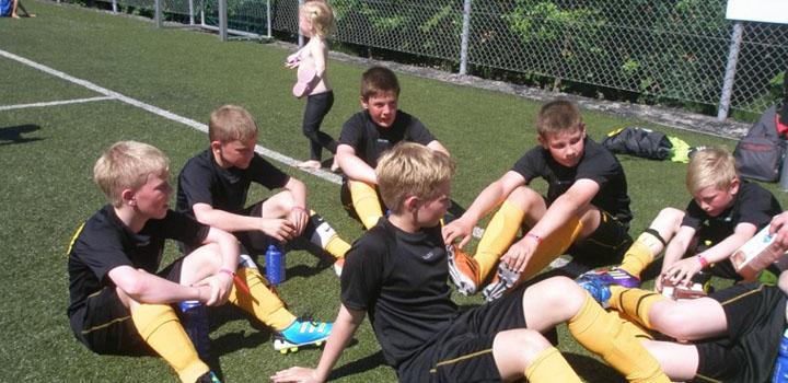 NSÍ piltar á Århus Fodboldfestival