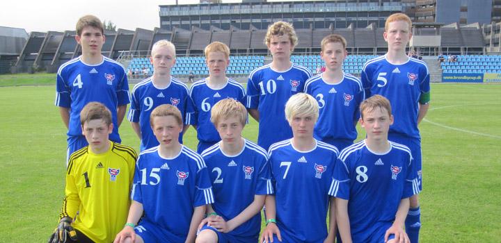 Brøndby Cup: U-15 tapti móti Kolding í dag
