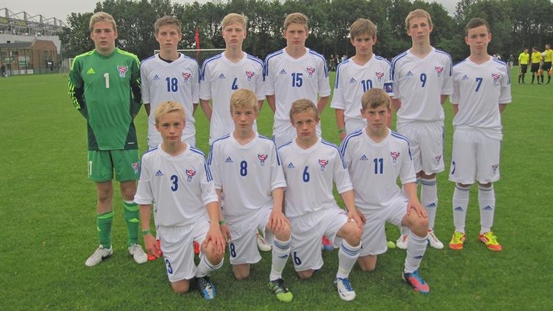 Brøndby Cup 2012: U-15 landsliðið vann í dag 1-0 á SønderjyskE í regn og torusláttri