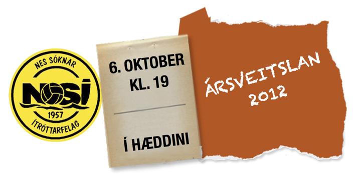 Ársveitslan 2012 verður 6. oktober