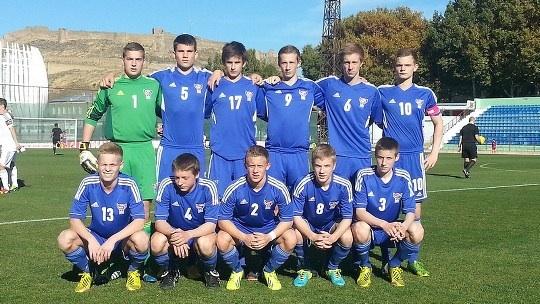 Stríðssigur: U-17 landsliðið vann á San Marino