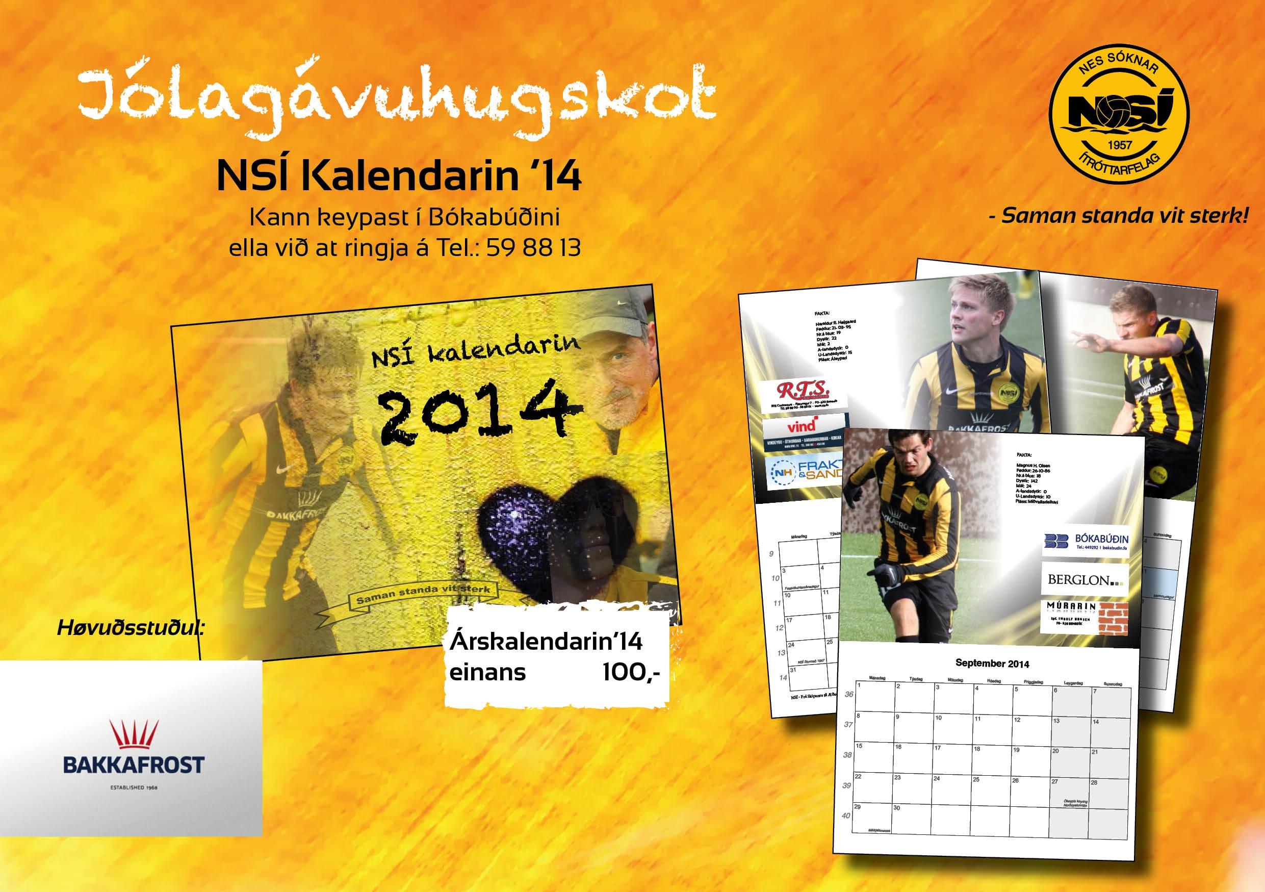 NSÍ kalendarin til sølu í Bókabúðini, Effo og Vár