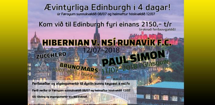Kom við NSÍ til Edinburgh!