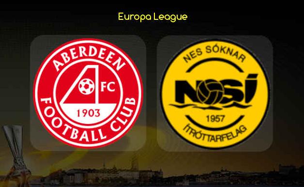EUROPA LEAGUE, atkvøð fyri besta NSÍ leikara, Aberdeen FC – NSÍ, 27. august 2020