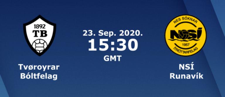 Atkvøð fyri besta NSÍ leikara, TB – NSÍ, 23. september 2020