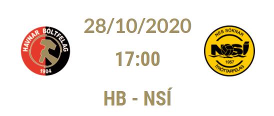 Atkvøð fyri dagsins NSÍ leikara, HB – NSÍ, 28. oktober 2020