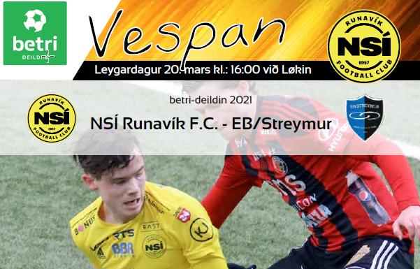 Vespan 2021, leikskrá, 3. umfar, NSÍ – EB/Streymur
