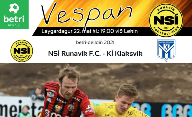 Leikskráin til dystin í kvøld kl. 19.00 við Løkin, NSÍ – KÍ
