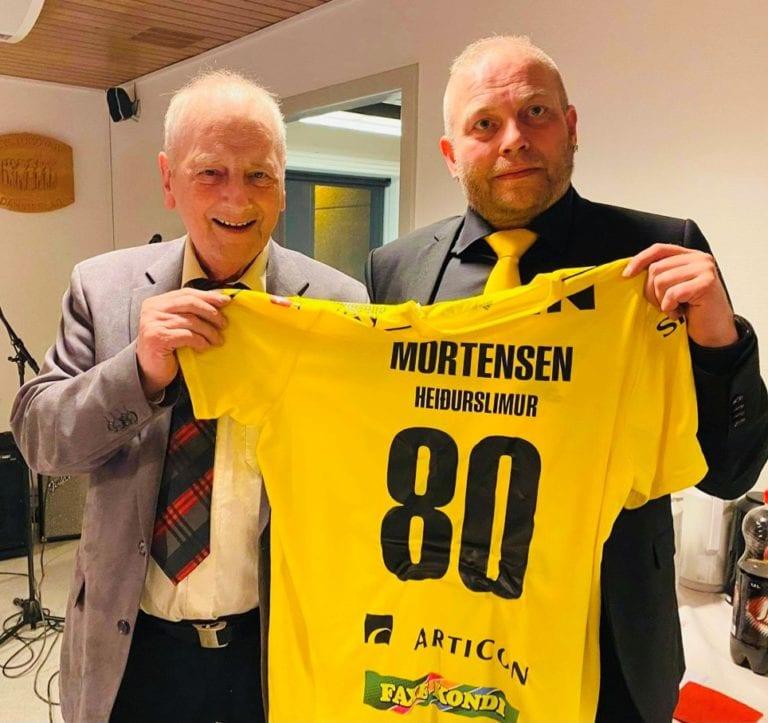 Jákup Mortensen 80 ár.