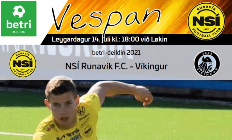 Leikskráin til dystin í kvøld kl. 18.00 við Løkin, NSÍ – Víkingur