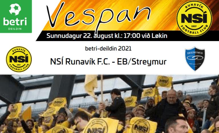 Leikskráin til dystin í kvøld kl. 17.00 við Løkin, NSÍ – EB/Streymur